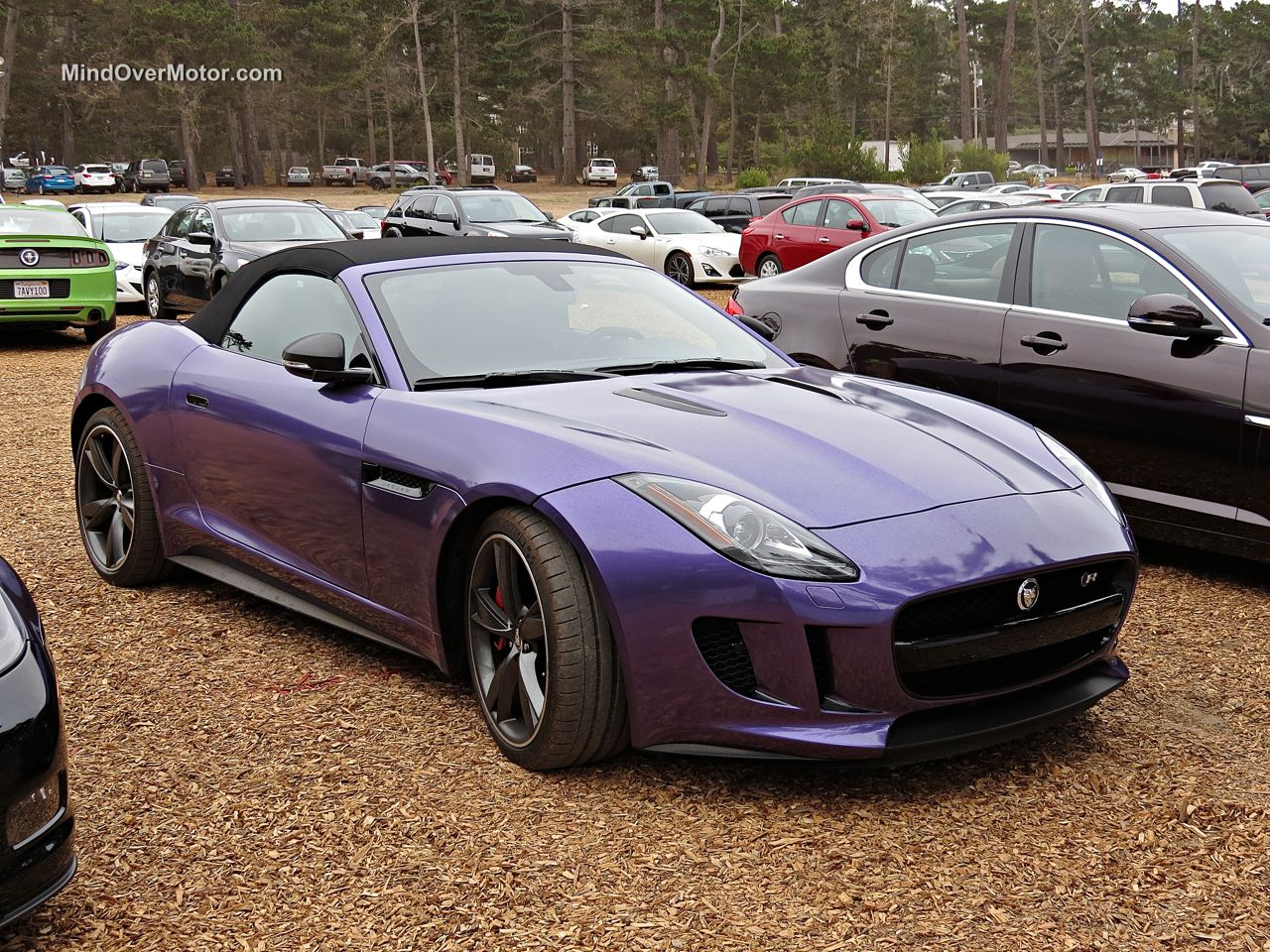 Purple Jaguar F-Type R Roadster Front