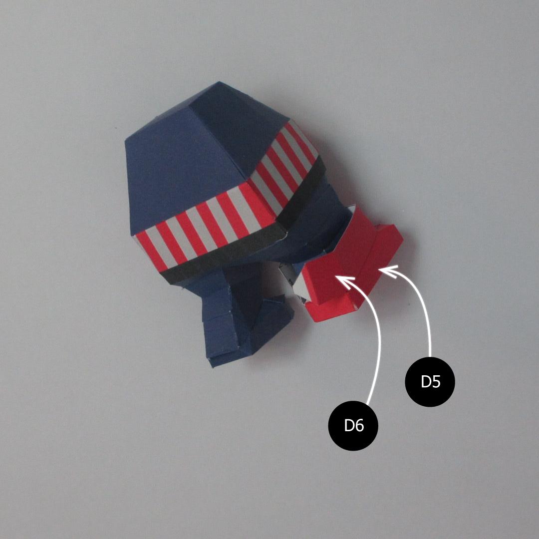วิธีทำของเล่นโมเดลกระดาษกับตันอเมริกา (Chibi Captain America Papercraft Model) 024