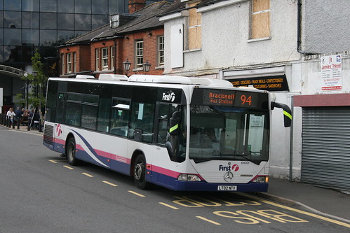 First Beeline 64001 on Route 94, Bracknell Bus Station