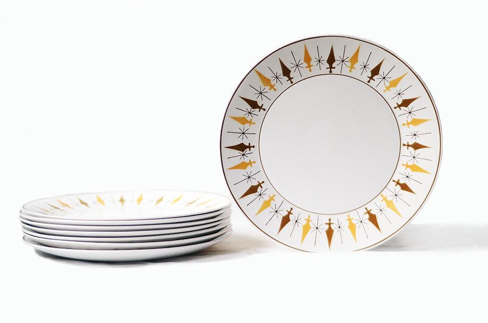 Eight Vintage Mikasa Nordic Dinner Plates