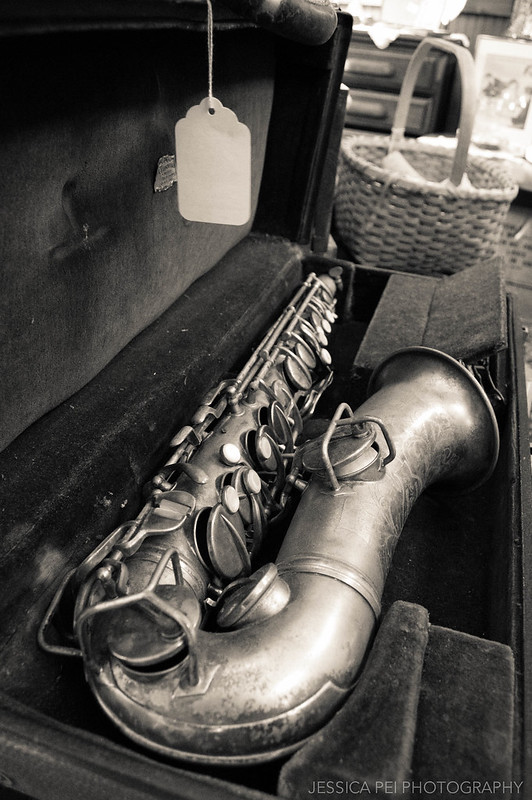 vintage saxophone music instrument
