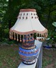 Mosaic Lamp- Rust and Blue