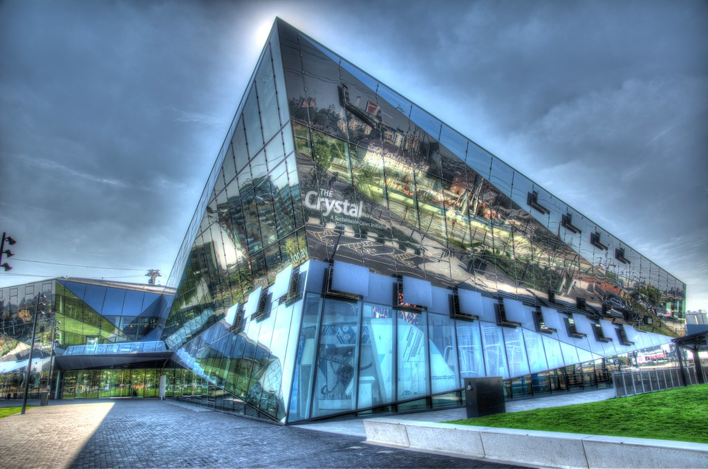 The Crystal with reflections HDR
