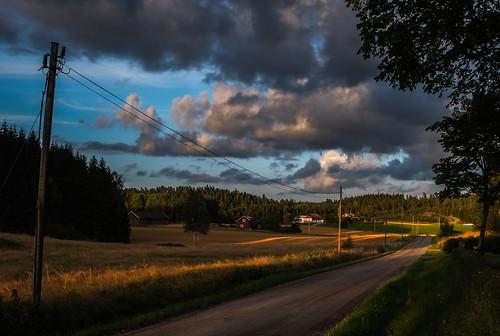 sunset landscape sweden dalsland