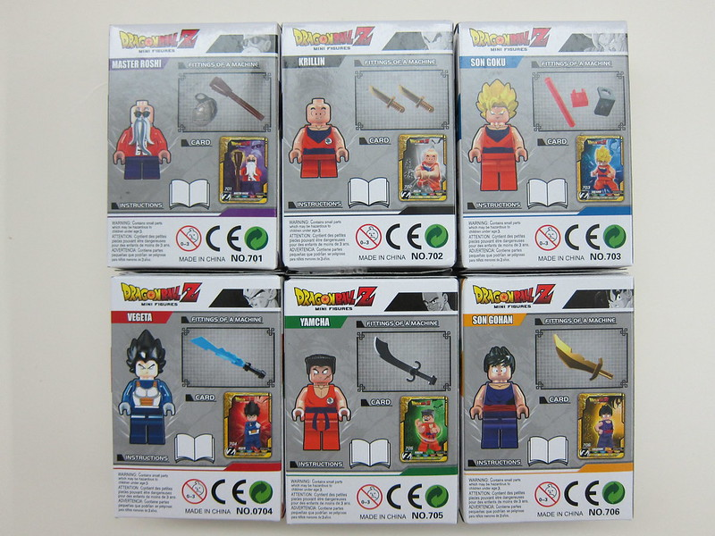 Dragon Ball Z Lego Compatible Minifigures - Box Back