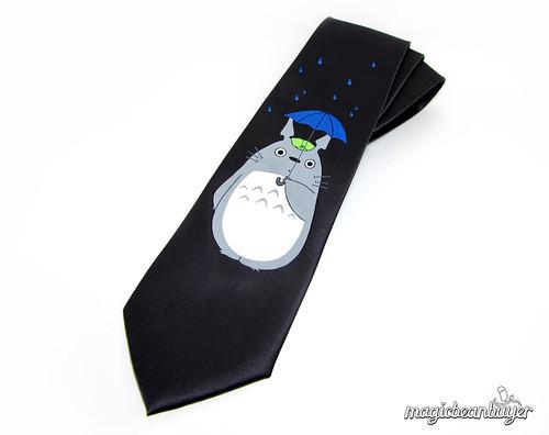 Hand-Painted Totoro Necktie