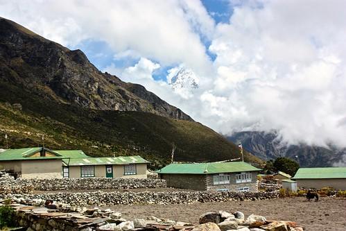 Amadablam rises above Khumjung