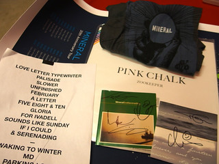Mineral (poster/t-shirt/setlist), The Gloria Record, Zookeeper