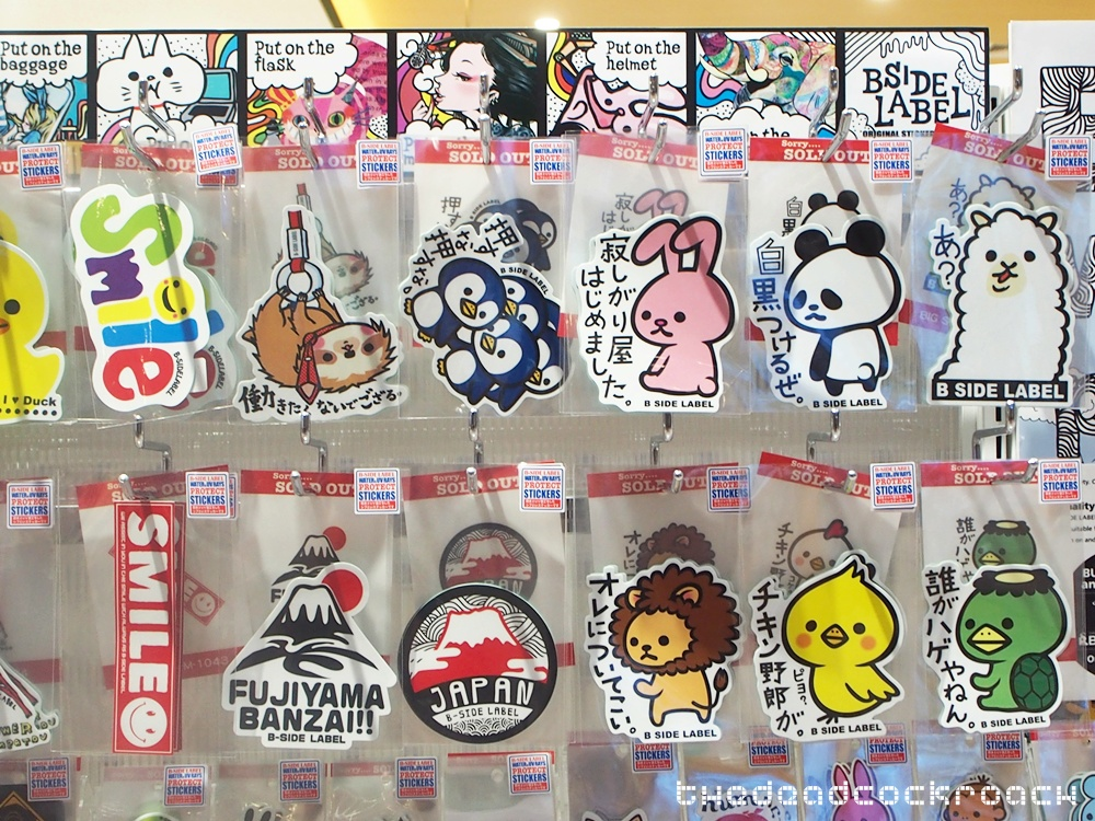 b-side label, jurong east,shibuya, singapore, stickers, tokyu hands, tōkyū hanzu,  west gate, 東急ハンズ, singapore