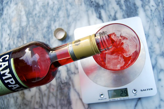Measuring Campari for Cocktails