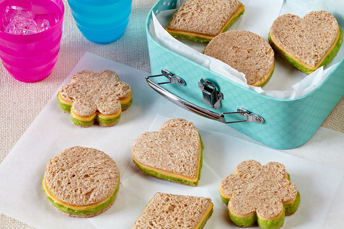 Fun-Shaped Mini Hass Avocado and Cheese Sandwiches make eating nutritious avocados fun.