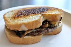 Swiss Mushroom Melt Burger