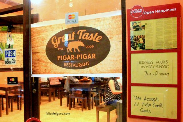 Dagupan Pangasinan Great Pigar Pigar Restaurant