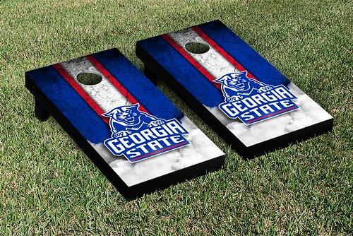 Georgia State Panthers Cornhole Game Set Vintage Version