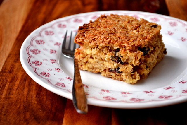 Coconut & Prune Flapjacks