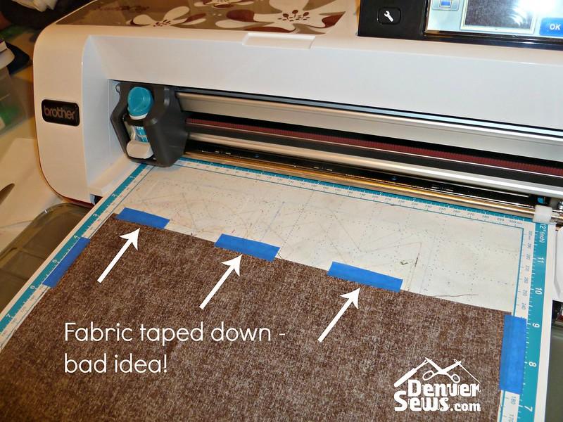 FabricTapedDown
