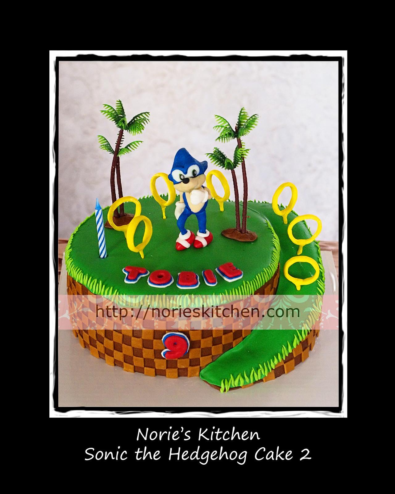 Nories Kitchen Sonic The Hedgehog Cake 2 Nories Kitchen Custom