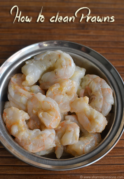 How to devein and clean prawns