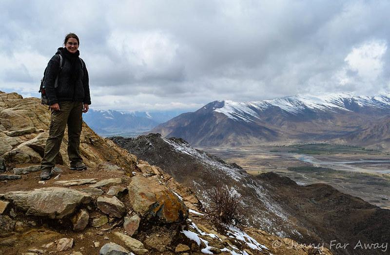 On the Ganden Monastery kora path