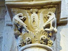 Anzy-le-Duc, Prioratskirche Sainte-Trinité, Kapitell