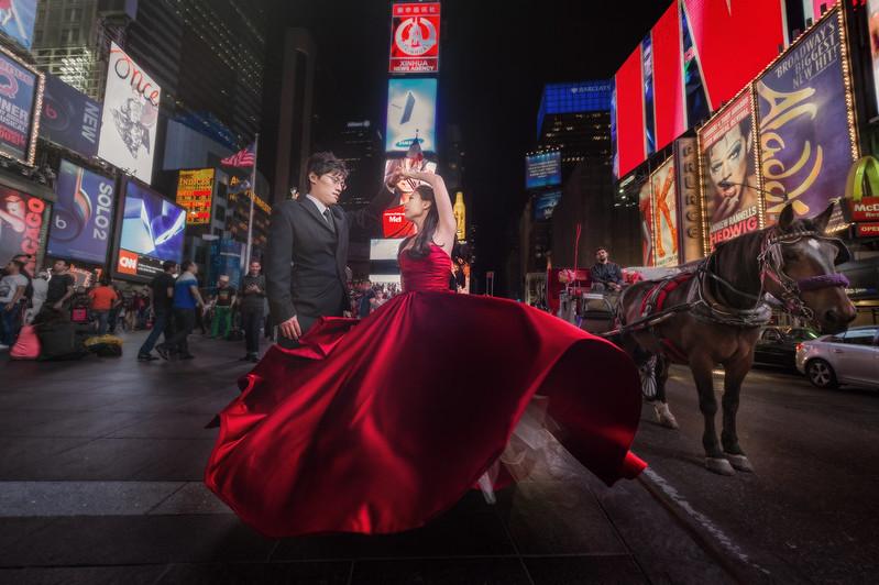 海外婚紗, 紐約婚紗, 時代廣場, 婚攝, 自主婚紗, Pre-Wedding, World Tour, Fine Art