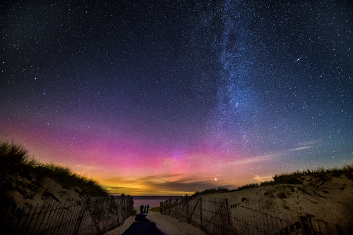 sky beach night stars ma sand nikon gate unitedstates path provincetown massachusetts newengland galaxy northernlights auroraborealis milkyway racepoint trigphotography frankcgrace