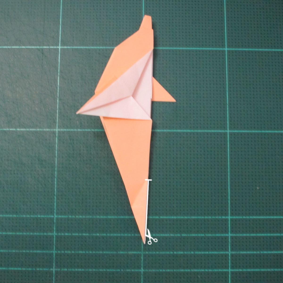 วิธีพับกระดาษเป็นรูปปลาโลมาแบบง่าย (Easy Origami Dolphin) 016