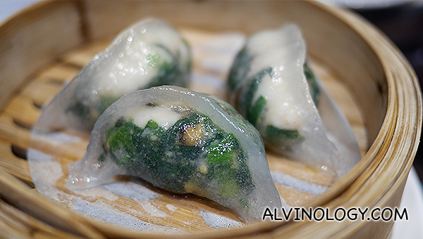 Spinach Dumpling with Shrimp - S$3.80