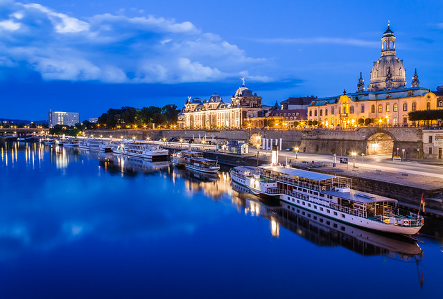 Dresden on the Elbe river