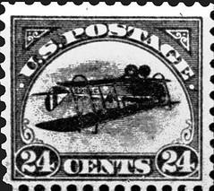 Inverted Jennie stamp