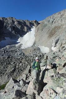 Rick Climbing Little Matterhorn