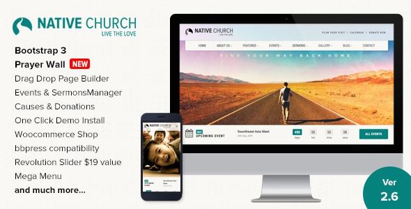 NativeChurch v2.9.01 - Multi Purpose Wordpress Theme