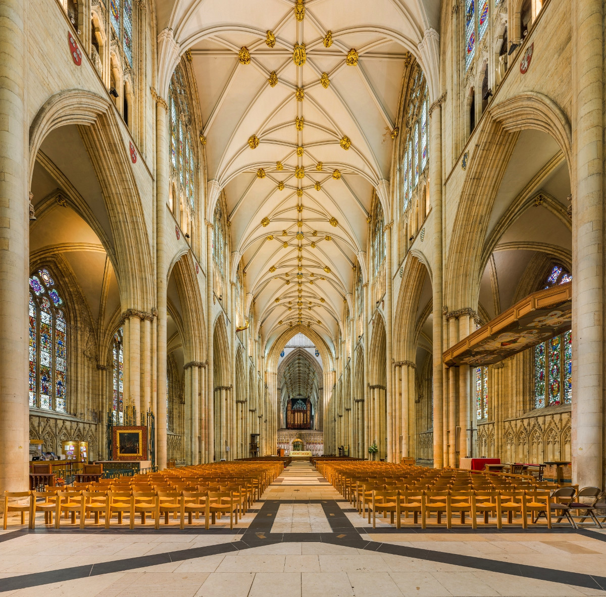 The nave of York Minster, David Iliff