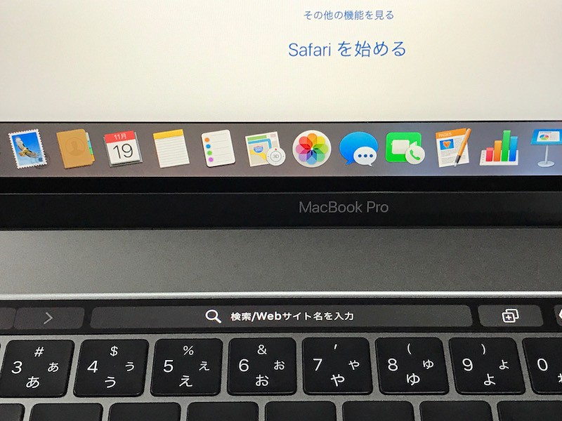 SafariのTouch Bar