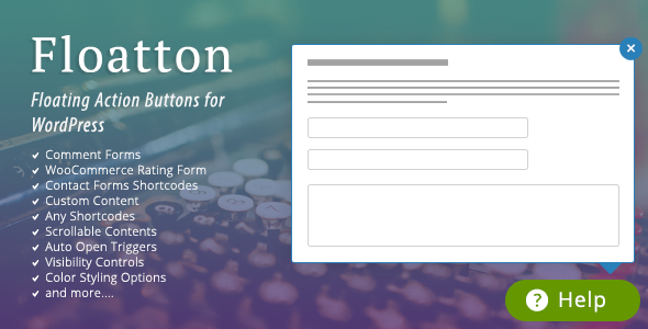 Floatton v1.0 - WordPress Floating Action Button with Pop-up Contents for Forms or any Custom Contents