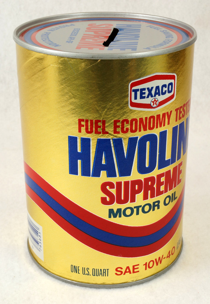 RD14906 Texaco Havoline Supreme Motor Oil Can Coin Bank DSC06461