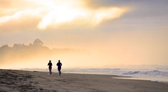 Morning dream, run on the beach