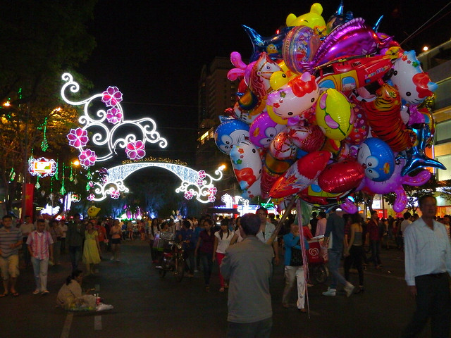 Celebrating Tet in Saigon, Vietnam