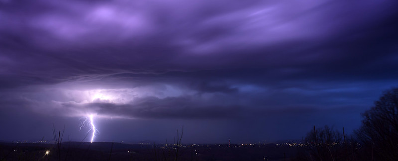 Lightning storm from Sunset Rock 7, White County, Tennessee