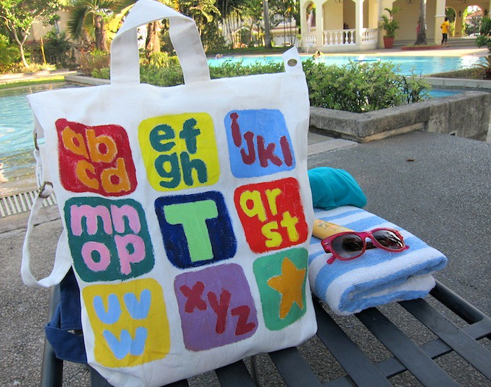 Memory Crafters: Canvas Beach Bag