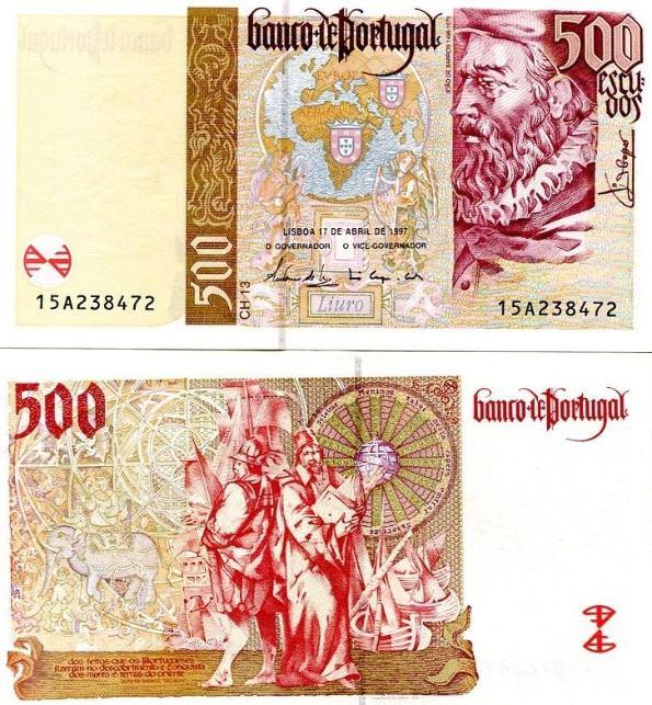 *500 Escudos Portugalsko 1997-2000, Pick 187