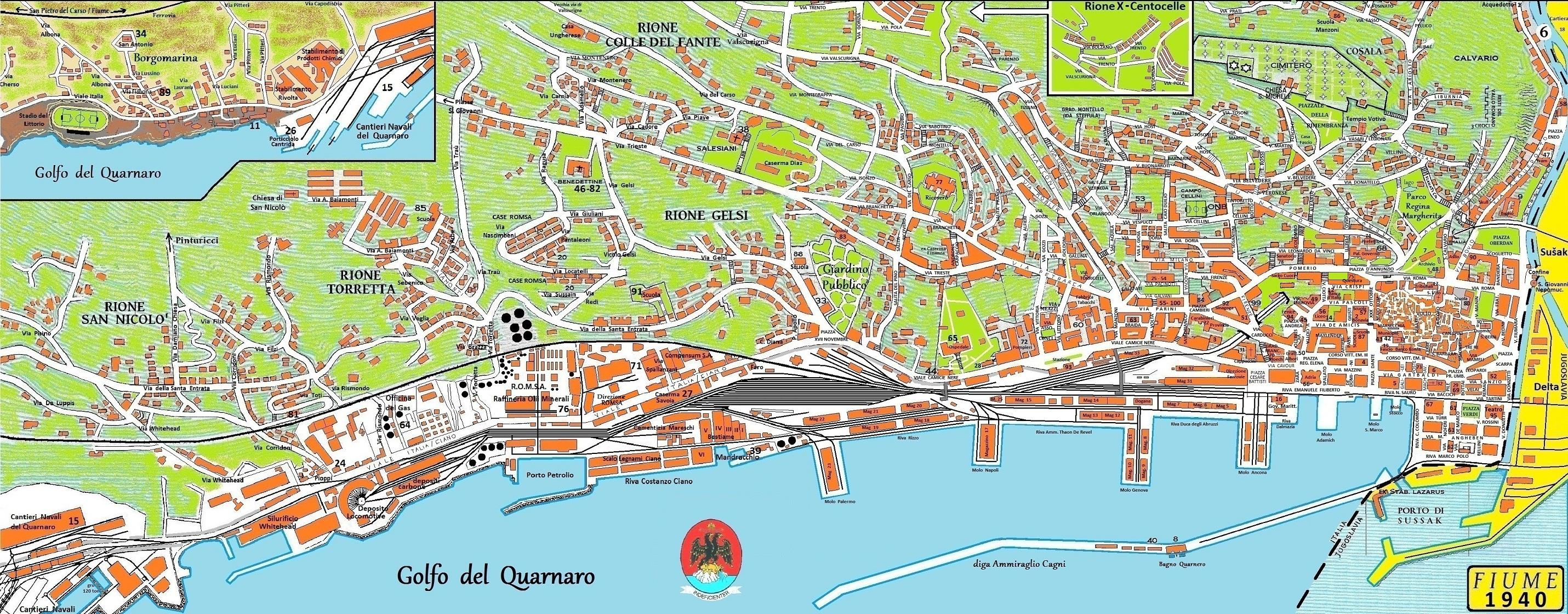 Igor Kramarsic Web Site Mapa Rijeke Iz 1940