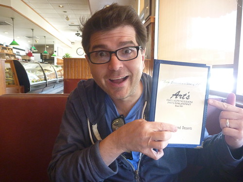 Retro Road Reporter Keith Valcourt at Art's Deli