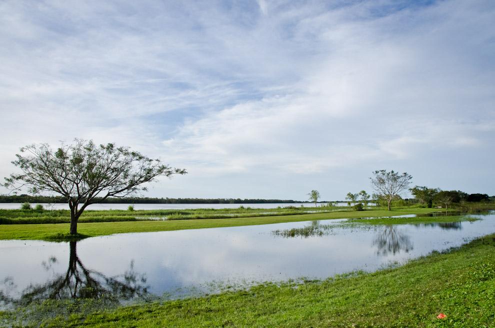 Aguadas del Río Paraguay mojan la costa de Humaitá, en la zona conocida antes como el Puerto de Humaitá, en la antigüedad, las aguas llegaban a mayores alturas permitiendo el acercamiento de barcos mercantes. (Elton Núñez)