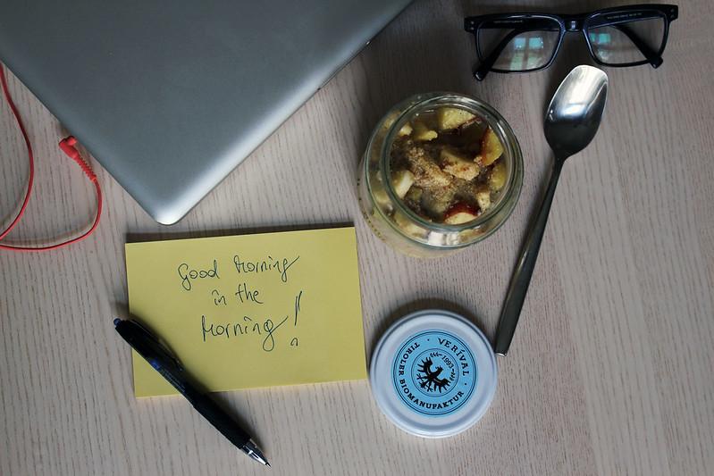 zwergenprinzessin frühstückt: verival porridge im rexglas