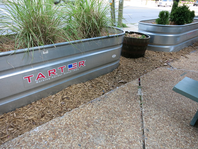 IMG_8284-2014-07-07 Peachtree Street Bell Street Burritos watering trough planters by Tarter