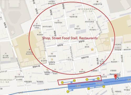Popular Street Food at Myeongdong Seoul Chin Chai Jiak