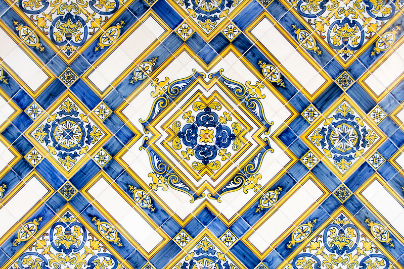 Hand-painted tiles from Portugal
