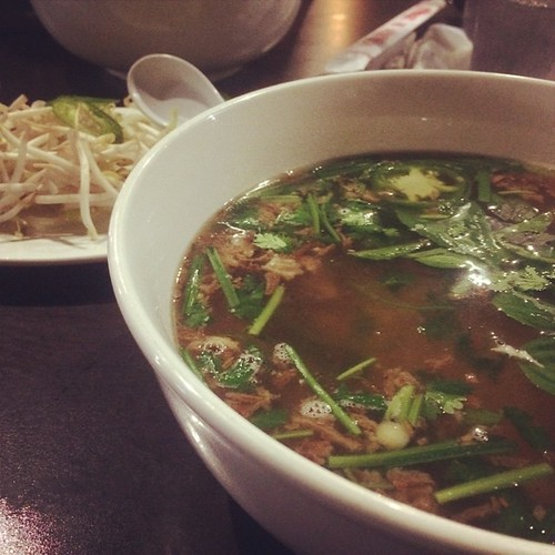 #pho with friends! #dinner #carbloading #goodeats