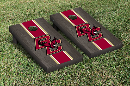 Boston College Eagles Cornhole Game Set Onyx Stained